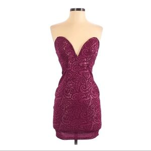 Foreign Exchange Strapless Mini Cocktail Dress